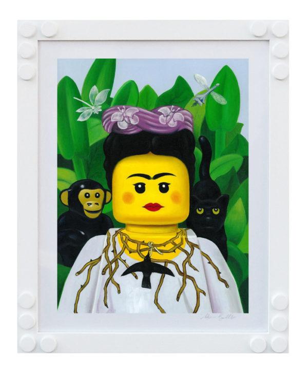 STAMPA LEGO BOLCATO FRIDA KAHLO COLLANA