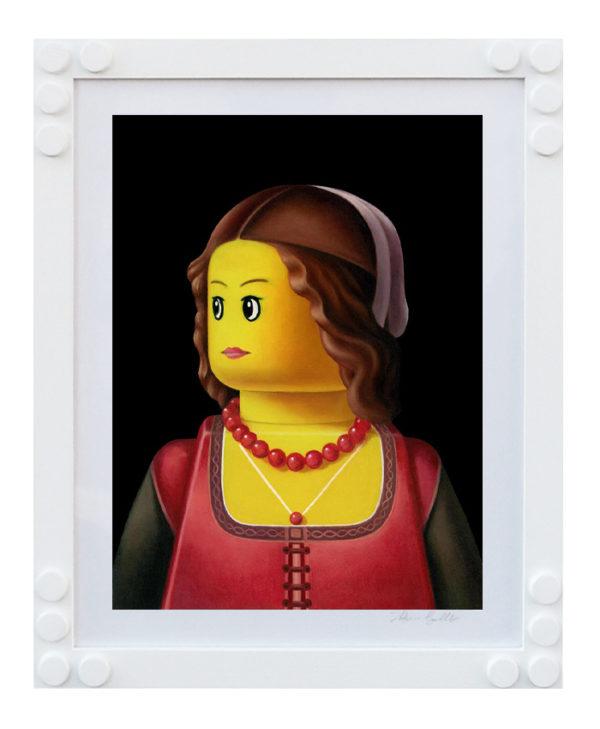 STAMPA LEGO BOLCATO RITRATTO DI DAMA GHIRLANDAIO