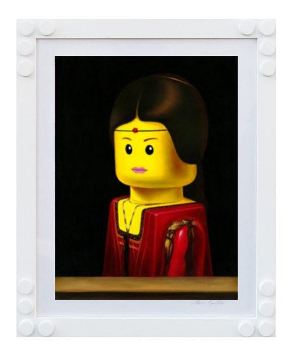 STAMPA LEGO BOLCATO La Belle Ferronniere Leonardo da Vinci